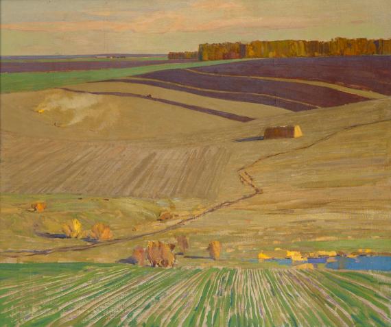 П.М. Гречишкин «Осенние поля» © Собрание СКМИИ