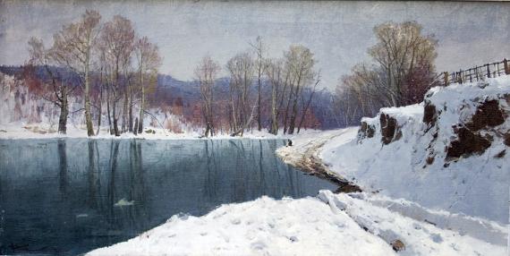 П.М. Гречишкин «Зима» © Собрание СКМИИ