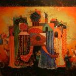 """Марина Соколова """"Эскиз декорации к балету """"Конёк-горбунок"""" Р.Щедрина"""" Одесский театр оперы и балета, 1980"""