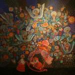 """Марина Соколова """"Эскиз декорации к опере """"Золотой петушок"""" Н.Римского-Корсакова"""" ГАБТ, Москва, 1988"""