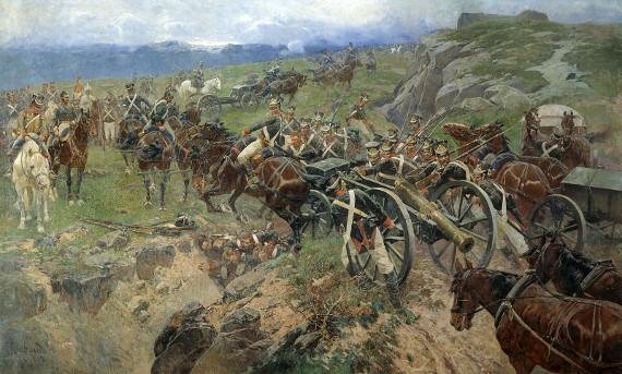 Франц Рубо «Живой мост» 1897