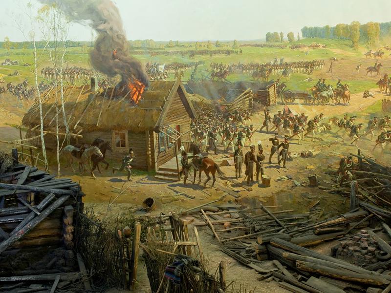 Франц Рубо «Бородинская панорама» (фрагмент)