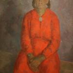 """Роберт Фальк """"Портрет девочки в красном. Молдова"""" 1952"""