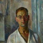 """Роберт Фальк """"Автопортрет в белой рубашке"""" 1924"""