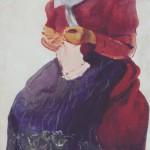 "Зинаида Серебрякова ""За вязаньем. Молодая крестьянка"" 1907"
