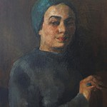 """Раиса Идельсон """"Автопортрет с изумрудом"""""""