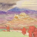 "Максимилиан Волошин ""Замок в Кастилии"" 1914"
