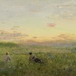 """Иван Похитонов """"Охота на перепелов в Жабовщине"""" Около 1902-1906"""