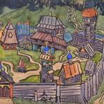 "Мария Якунчикова ""Городок"" 1899"
