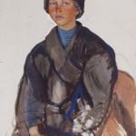 """Зинаида Серебрякова """"Стёпа. Портрет мальчика"""" 1910"""
