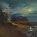 Константин Коровин «Охотино. Лунная ночь» 1918