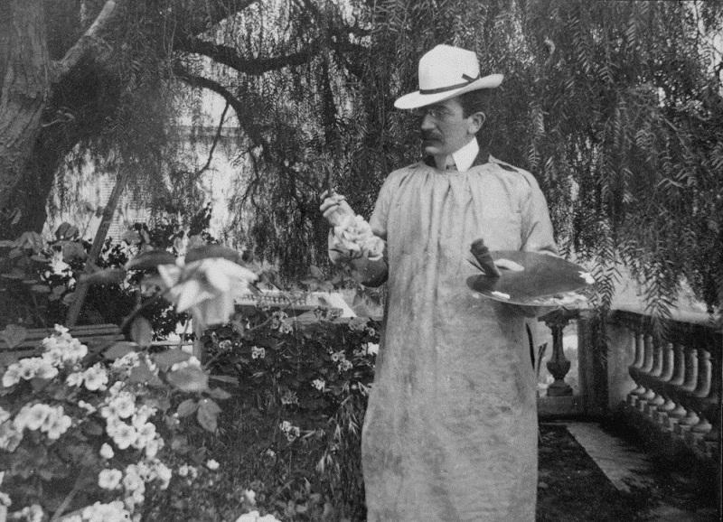 Л.С. Бакст. Ментона. 1903. Фотография.