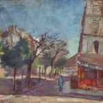 """Роберт Фальк """"Кафе на углу"""" 1931-1934 Частное собрание, Москва"""