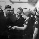 Встреча с работницами Ивановского камвольного комбината, 1970