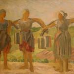 """Николай Ульянов """"Женщины с коромыслами"""" 1930"""