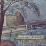 """Роберт Фальк """"Пейзаж с деревом и пароходом"""" 1929-1930 Частное собрание, Москва"""