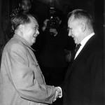 Мао Цзэдун принимает советскую делегацию во главе с А.Н. Косыгиным. КНР, 1965