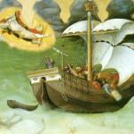 """Джентиле да Фабриано """"Св. Николай спасает судно от крушения"""""""