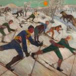 """Елена Ефремова-Гейдор """"Лыжники"""" 1929"""