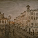 """Михаил Соколов """"Московская улица"""" 1930-е"""