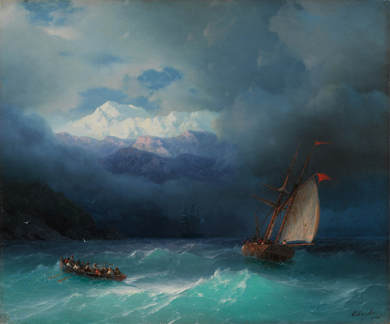 Иван Айвазовский «Бурное море» 1868 Собрание Государственной Третьяковской галереи