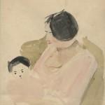 """Александр Лабас """"Двое (Портрет Р.Идельсон с сыном Юлием Лабасом)"""" 1933 Собрание семьи художника"""