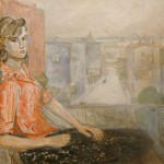 "Александр Лабас ""Девушка на балконе"" 1963"