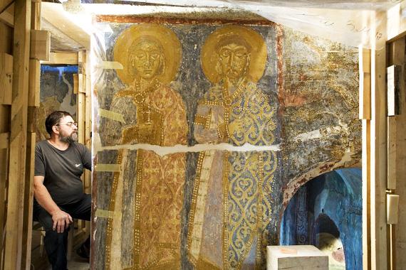 Полоцкий Спасо-Евфросиниевский монастырь. Реставратор Владимир Сарабьянов.