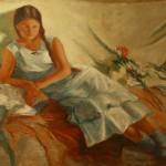 """Ефросинья Ермилова-Платова """"Портрет девушки"""" 1935"""