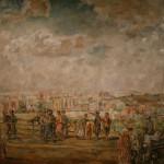 """Аристарх Лентулов """"Москва с Воробьёвых гор"""" 1940"""