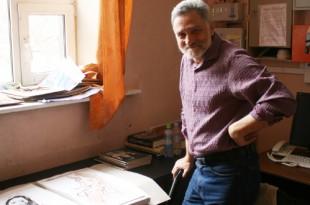 В мастерской художника. Михаил Бабенков.