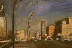 Мария Смахтина. Радуга над Москвой. Живопись.