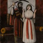 """Нико Пиросмани (Пиросманашвили) """"Брат и сестра. Сцена из пьесы В. Гуния «Брат и сестра»"""
