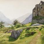 "Альберт Бенуа ""Замок Добадарн в Ланберис. Англия"" 1890-1900-е"
