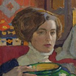 """Елена Киселёва """"Художница с зеленой вазой. Автопортрет"""" 1910"""
