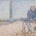 "Жорж Сёра ""Больница и маяк в Онфлёр"" 1886"