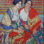 """Елена Киселёва """"Мать и дочь"""" 1911"""