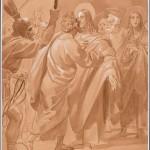 """Брюллов К.П. """"Целование Иуды"""" Эскиз композиции для росписи Исаакиевского собора в Санкт-Петербурге"""