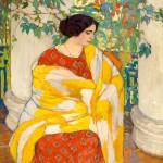 """Елена Киселёва """"На балконе"""" 1910"""