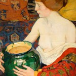 """Елена Киселёва """"Натурщица с зеленой вазой"""" 1910"""