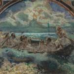 """Врубель М.А. """"Хождение по водам"""" Эскиз стенной росписи. 1890"""