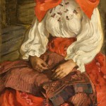 "Елена Киселёва ""Девушка в красном"" 1907"