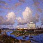 """К.И. Горбатов """"Осень в Пскове"""" 1930-е"""