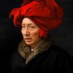 """Ясумаса Моримура """"История искусства в автопортретах. Ван Эйк в красном тюрбане"""" 2016"""