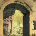 """Александр Брюллов """"Базилика Максенция и Константина на Римском форуме"""" 1823-1826"""