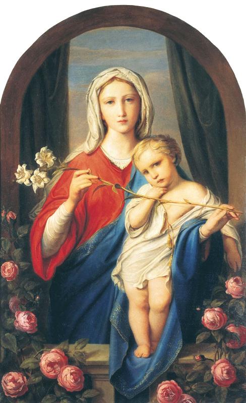 "Ф.А. Бруни ""Богоматерь с младенцем в розах"" 1843"