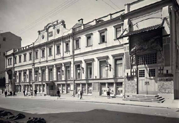 Московский Художественный театр (архитектор Ф. О. Шехтель, 1902). Перспектива. Фото М. М. Чуракова, 1980-е