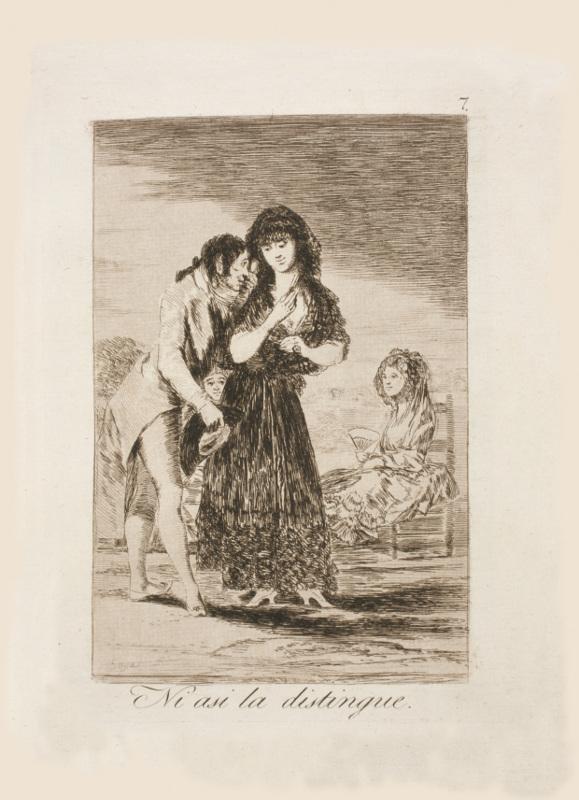 Франсиско Гойя «Он даже так не разглядит её» 1799