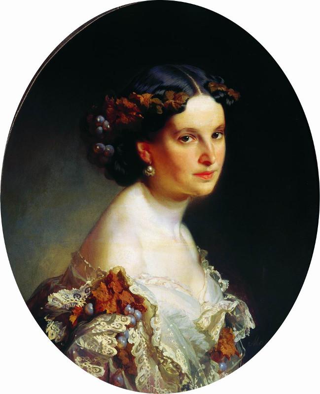 """И.К. Макаров """"Портрет неизвестной"""" 1860"""