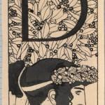 """Густав Климт """"Инициал """"D"""" Иллюстрация для журнала """"Ver Sacrum"""" 1897/1898"""